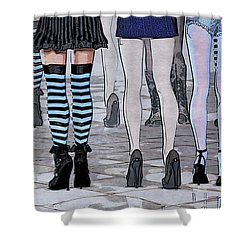 Legs Shower Curtain by Jutta Maria Pusl
