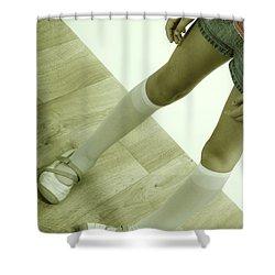 Legs Of A Girl Shower Curtain by Joana Kruse