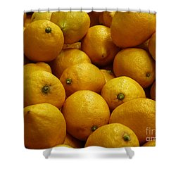 Lemons Shower Curtain by Methune Hively