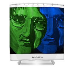 Lennon Shower Curtain by Mark Moore