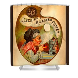 Levering's Roasted Coffee Shower Curtain by Anne Kitzman
