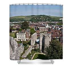 Lewes East Sussex Shower Curtain by Dawn OConnor