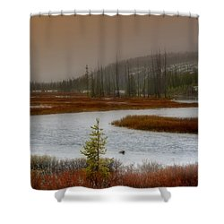 Lewis River - Yellowstone National Park Shower Curtain by Ellen Heaverlo