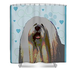 Lhasa Apso Shower Curtain by One Rude Dawg Orcutt