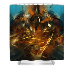 Lift Off Shower Curtain by David Lane