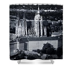Light On The Cathedral Shower Curtain by Joan Carroll