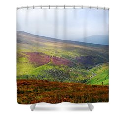 Light Over Wicklow Hills. Ireland Shower Curtain by Jenny Rainbow