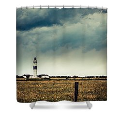 Lighthouse Of Kampen -vintage Shower Curtain by Hannes Cmarits