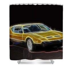Lightning Fast Shower Curtain by Barry Jones