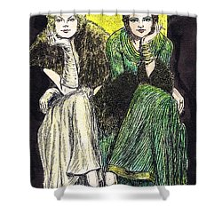 Lilyan And Kay Shower Curtain by Mel Thompson