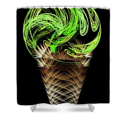 Lime Ice Cream Cone Shower Curtain by Andee Design