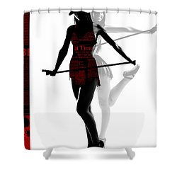 Limelight Shower Curtain by Naxart Studio