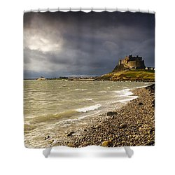 Lindisfarne Castle, Holy Island Shower Curtain by John Short