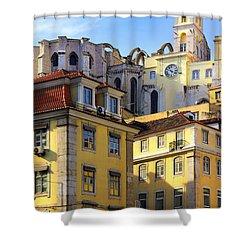 Lisbon Buildings Shower Curtain by Carlos Caetano