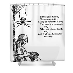 Little Miss Muffet Shower Curtain by Granger