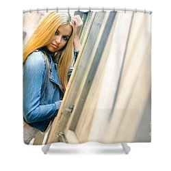 Liuda5 Shower Curtain by Yhun Suarez