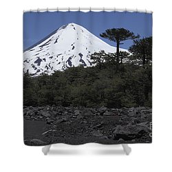 Llaima Volcano, Araucania Region, Chile Shower Curtain by Martin Rietze