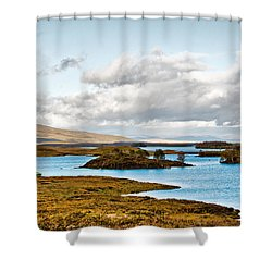 Loch Ba View Shower Curtain by Chris Thaxter