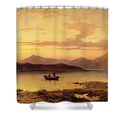 Loch Etive From Bonawe In The Evening Shower Curtain by George Edwards Hering