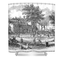 London Playground, 1843 Shower Curtain by Granger