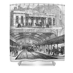 London: Railway, 1876 Shower Curtain by Granger