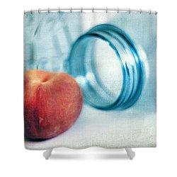 Lone Peach Shower Curtain by Darren Fisher