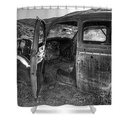 Long Forgotten Shower Curtain by Bob Christopher