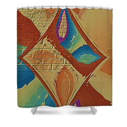Look Behind The Brick Wall Shower Curtain by Deborah Benoit