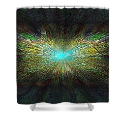 Look Up Shower Curtain by Tim Allen
