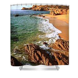 Los Cabos Coastal Landscape Shower Curtain by Roupen  Baker