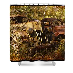 Lost In Time Shower Curtain by Carla Parris