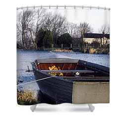 Lough Neagh, Co Antrim, Ireland Boat In Shower Curtain by Sici