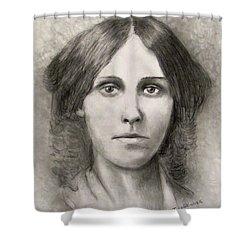 Louisa May Alcott Shower Curtain by Jack Skinner