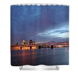 Louisville Kentucky Shower Curtain by Darren Fisher