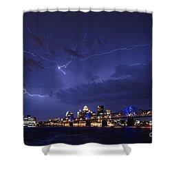 Louisville Storm - D001917b Shower Curtain by Daniel Dempster