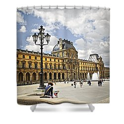 Louvre Museum Shower Curtain by Elena Elisseeva