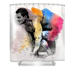 Love Colors - 2 Shower Curtain by Mark Ashkenazi