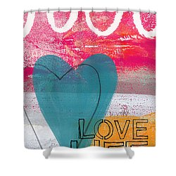 Love Life Shower Curtain by Linda Woods