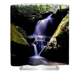 Lower Grotto Falls Shower Curtain by Frozen in Time Fine Art Photography