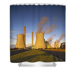 Loy Yang Power Station, Coal Burning Shower Curtain by Jean-Marc La Roque