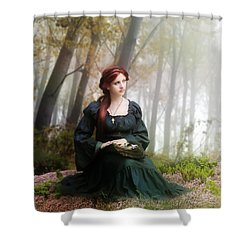 Lucid Contemplation Shower Curtain by Mary Hood