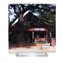 Luckenbach Texas - II Shower Curtain by Susanne Van Hulst