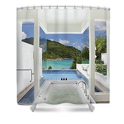 Luxury Bathroom  Shower Curtain by Setsiri Silapasuwanchai