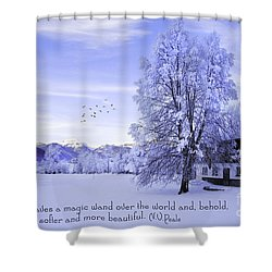 Magic Wand Shower Curtain by Sabine Jacobs