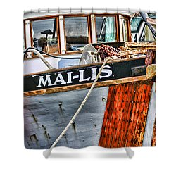 Mai-lis Tug-hdr Shower Curtain by Randy Harris