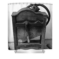 Maize Cob Sheller Shower Curtain by Gaspar Avila