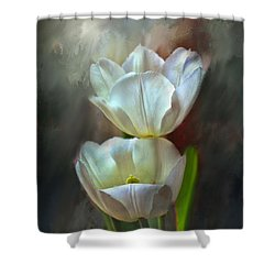Majestic Tulips Shower Curtain by Bonnie Willis