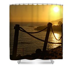 Malibu Sunset Shower Curtain by Micah May