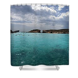 Malta Mediterranean Beach Shower Curtain by Guy Viner