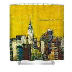 Manhattan With Chrysler And Empie Shower Curtain by Habib Ayat